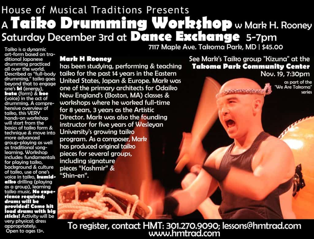 Mark H Taiko Workshop