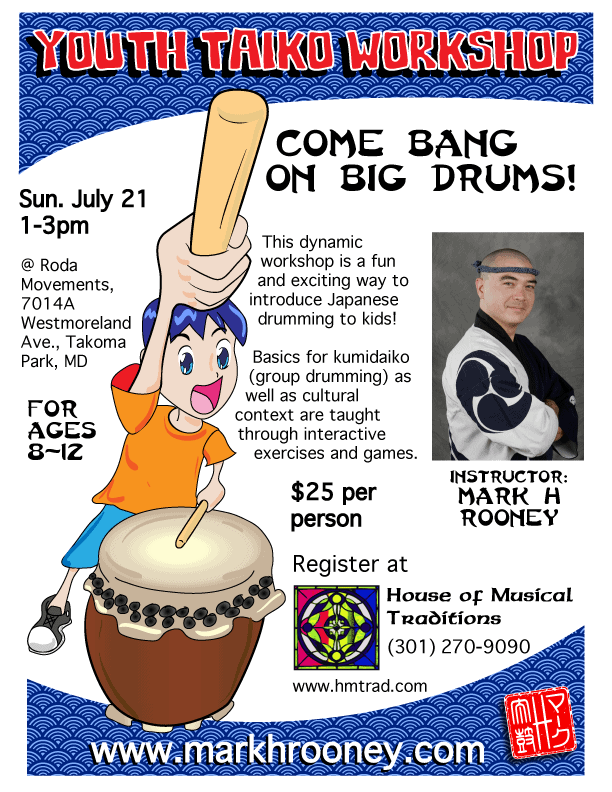 Youth Taiko Workshop July 21