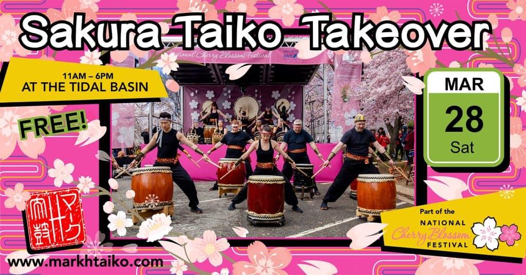 Miyako Taiko performs at the 2019 Sakura Taiko Takeover at the Tidal Basin