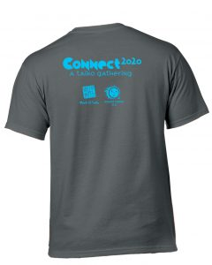 CONNECT 2020 t-shirt back (Charcoal)