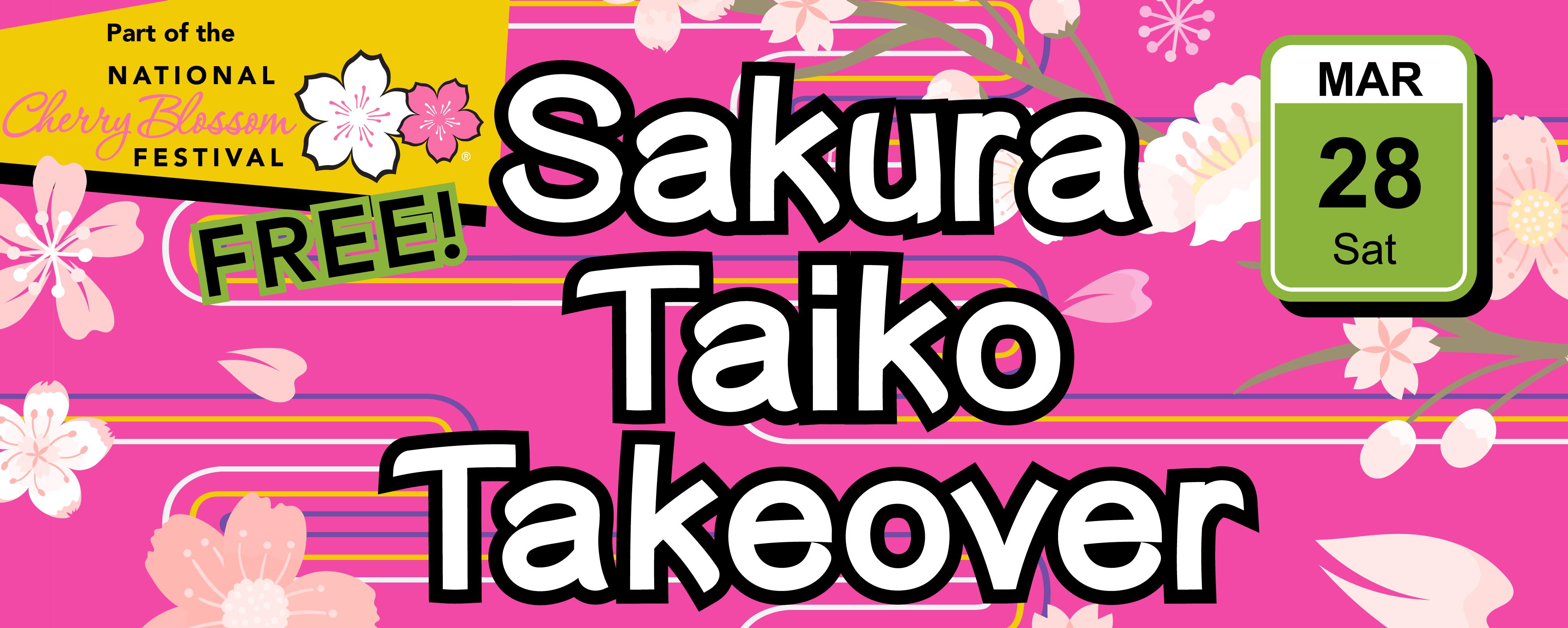 Sakura Taiko Takeover mobile banner