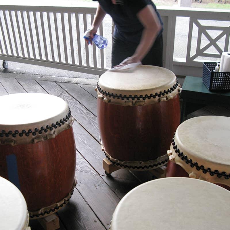 Glen Echo Park drum cleaning