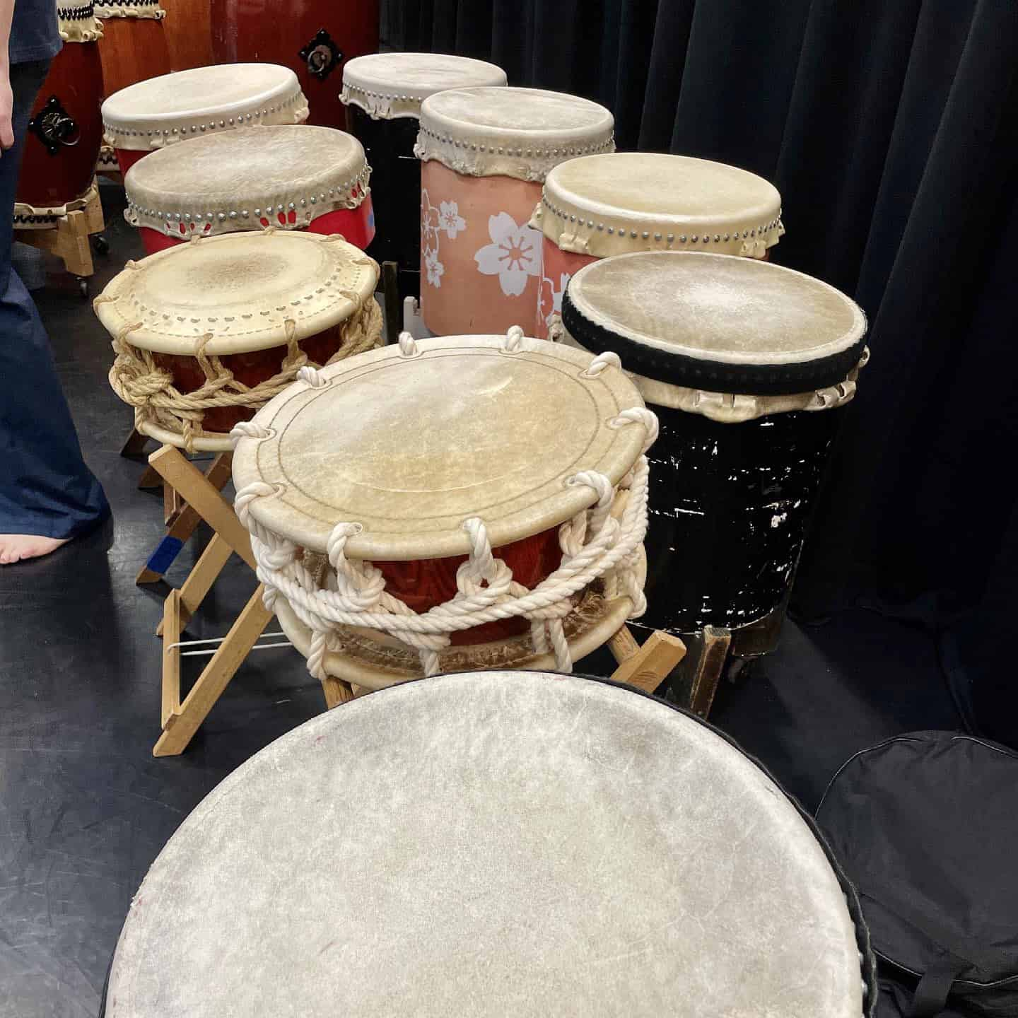 taiko drums in the studio