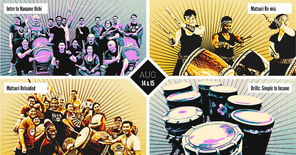 August Workshops with Mark H Taiko